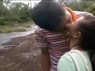 Asian Sex asian couple outdoor